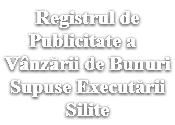 Registrul de publicitate a vinzarii de bunuri supuse executarii